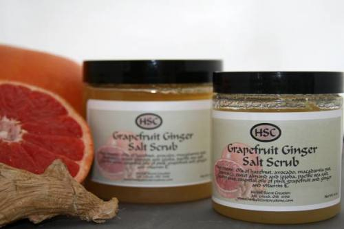 Grapefruit Ginger Salt Scrub