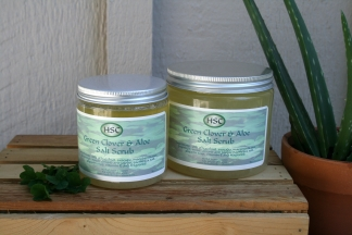 Green Clover & Aloe Salt Scrub