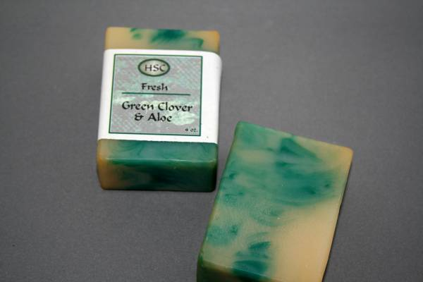 Green Clover & Aloe Soap
