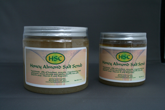 Honey Almond Salt Scrub