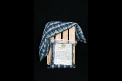 Neck Wrap - Blue, Green & White Plaid Flannel