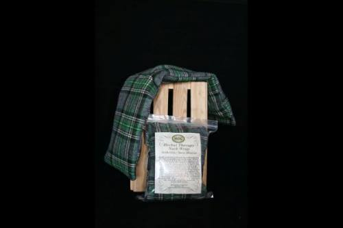 Neck Wrap - Green, Black & White Plaid Flannel