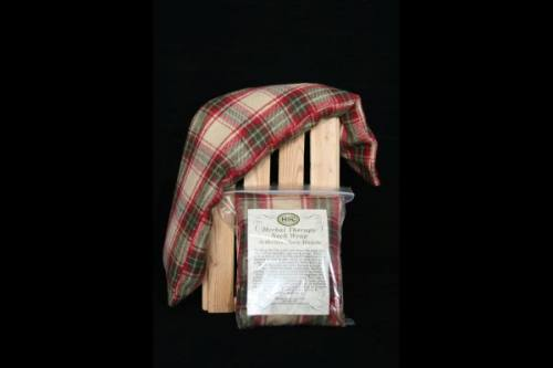 Neck Wrap - Green, Red & Beige Plaid Flannel