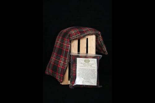 Neck Wrap - Beige, Black, Red & White Plaid Flannel