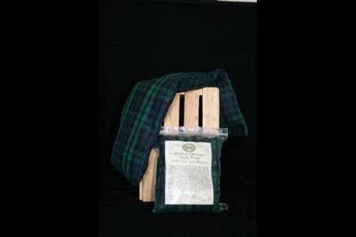 Neck Wrap - Blue, Green & Black Plaid Flannel